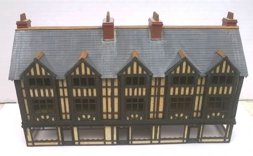Arch Laser ALN0034 Half Timbered Row of Shops